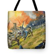 The Battle Of Gettysburg Tote Bag by Severino Baraldi
