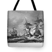 The Battle Of Texel, 1673 Tote Bag