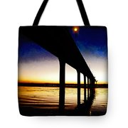The Battlefield Of Night And Day Tote Bag