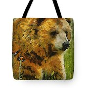 The Bear Painterly Tote Bag
