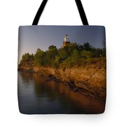 The Big Bay Point Lighthouse, Now A Bed Tote Bag