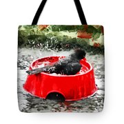 The Birdbath  Tote Bag