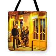 The Bistro At Night Tote Bag