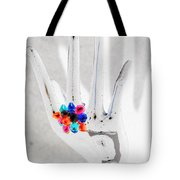 The Black Hand In Negative Tote Bag