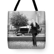 The Blond Hiker Tote Bag