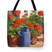 The Blue Watering Can Tote Bag by Anthony Rule