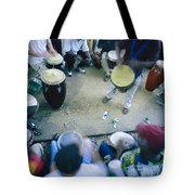 The Blur Of A Frenzied Beat In A Circle Tote Bag
