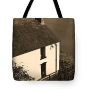 The Boathouse At Laugharne Sepia Tote Bag
