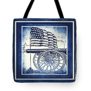 The Bombs Bursting In Air Blue Tote Bag