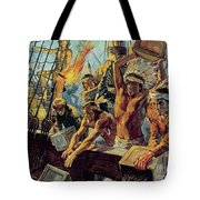 The Boston Tea Party Tote Bag by Luis Arcas Brauner