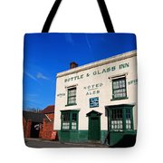 The Bottle And Glass Tote Bag