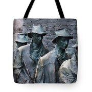 The Breadline Franklin Delano Roosevelt Memorial Tote Bag