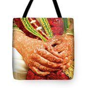 The Bride's Hands Tote Bag