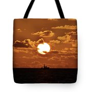 the Bronzy Sunset. Tote Bag