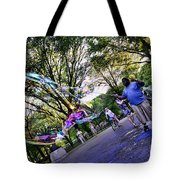 The Bubble Man Of Central Park Tote Bag