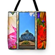 The Buffalo And Erie County Botanical Gardens Triptych Series Tote Bag