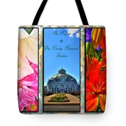 The Buffalo And Erie County Botanical Gardens Triptych Series With Text Tote Bag