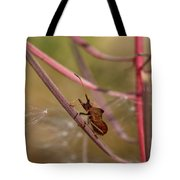 The Bug With Fireweed Seeds Tote Bag