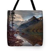 The Calm At Lake Louise Tote Bag