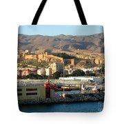 The Castle In Almeria Spain Tote Bag