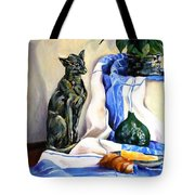 The Cat And The Cloth Tote Bag