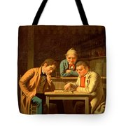 The Checker Players Tote Bag by George Caleb Bingham