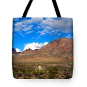 The Chisos Mountains Big Bend Texas Tote Bag