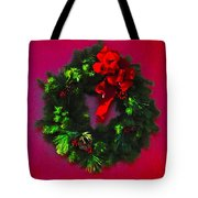 The Christmas Wreath Tote Bag