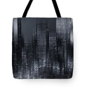 The City Comes Alive At Night Tote Bag