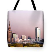 The City Of Warsaw Tote Bag