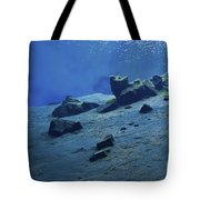 The Clear Water Of The Lagoon At Silfra Tote Bag