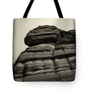The Cliff Bw Tote Bag