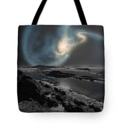 The Collision Of The Milky Way Tote Bag by Ron Miller