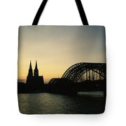 The Cologne Cathedral And Hohenzollern Tote Bag