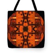 The Color Orange Mandala Abstract Tote Bag