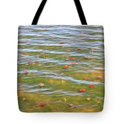 The Colors Of Lily Pads Tote Bag