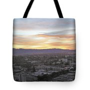 The Colors Of The Sky Over San Jose At Sunset Tote Bag by Ashish Agarwal