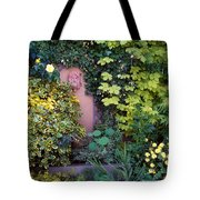 The Courtyard Garden, Fairfield Lodge Tote Bag by The Irish Image Collection