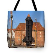 The Crane In Gdansk Tote Bag