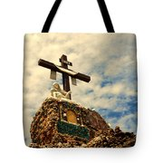 The Cross In The Grotto In Iowa Tote Bag