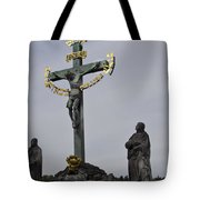 The Crucifix And Calvary - Prague Tote Bag