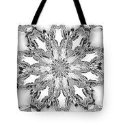 The Crystal Snow Flake Tote Bag
