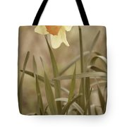 The Daffodil In Partial Sepia Tote Bag