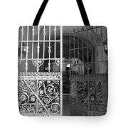 The Dakota Gates In Black And White Tote Bag