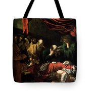 The Death Of The Virgin Tote Bag by Caravaggio
