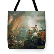 The Defear Of The Floating Batteries At Gibraltar Tote Bag
