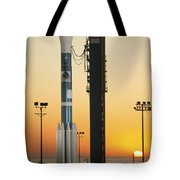 The Delta II Rocket On Its Launch Pad Tote Bag