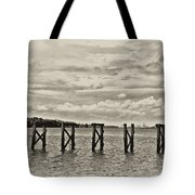 The Disappearing Pier Tote Bag