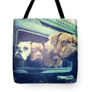 The Dog Taxi Is A Hummer Tote Bag by Nina Prommer