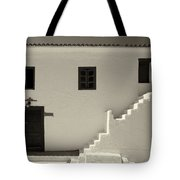 The Door Of The Chappel Bw Tote Bag